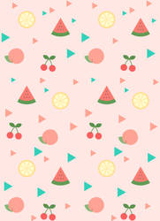 summer fruit wrapping paper by goescat