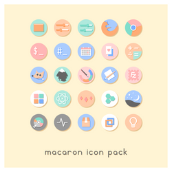 Macaron icon pack by goescat