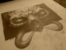 demonic skull by AndreySkull