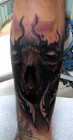 skull tattoo by AndreySkull