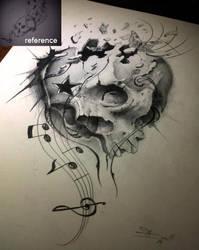 dark melody skull by AndreySkull