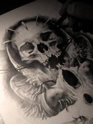 the skull by AndreySkull