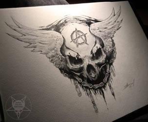 skull logo by AndreySkull