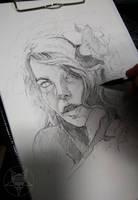 face sketch by AndreySkull