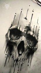 ink skull 2 by AndreySkull