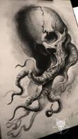 tentacles skull by AndreySkull