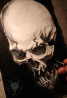 angry skull by AndreySkull