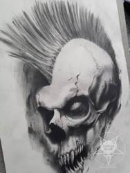 mohawk skull by AndreySkull
