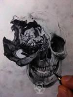 deformed skull by AndreySkull