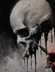 ink skull III by AndreySkull
