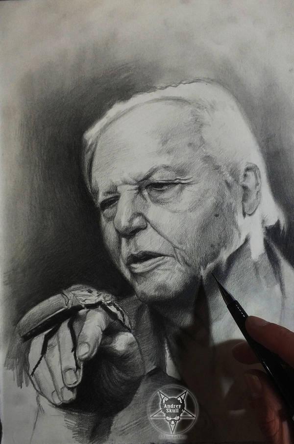 David Attenborough by AndreySkull
