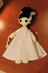 Bride of Frankenstein cloth doll by geekygamergirl