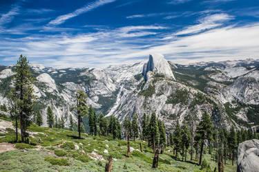 Yosemite's Half Dome by phlezk