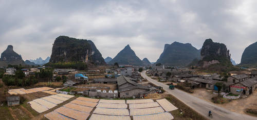 Guangxi Village Panorama by phlezk