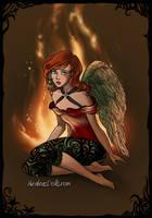 Hawkgirl on Fire by EsmeAmelia