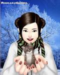 Leia With Kitty by EsmeAmelia