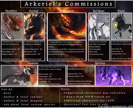 [Closed] Commission Sheet 2019 by Arkeriel