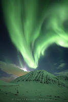Northern lights - Volcano by TonyLeBastard