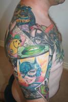 batman tattoo complete side by carlyshephard
