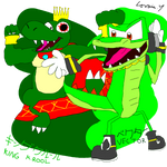 Mario and Sonic Crossover Art #6: The Crocodiles by GameArtist1993