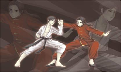 APH: Kiku vs. Yao by AlaisL