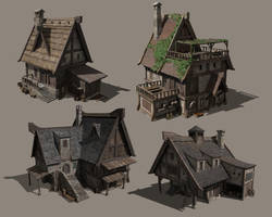 Various house designs 1 by TimoKujansuu