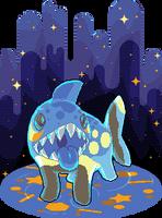 Starry Night Sharkie by SugarySweetSprites