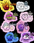 Pokemon Aqualette Adoptables - 7/8 Open by SugarySweetSprites