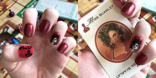 Scarlet Nail Art by SugarySweetSprites