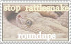 rattlesnake roundup stamp by triippyx
