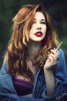 Kaja and the cigarette I by stalae
