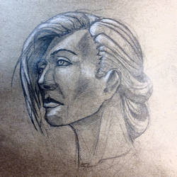 Headshot drawing  by DiWighte