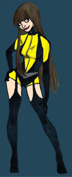 Silk Spectre from Watchmen by Clem-Kle