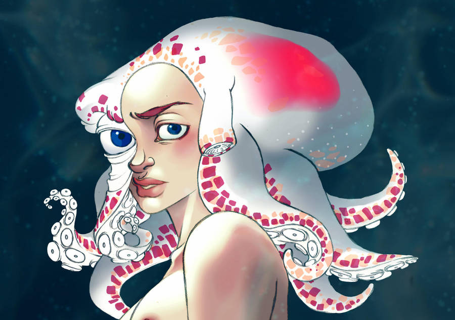 Colorful octopus by Clem-Kle