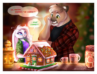 Making Gingerbread Houses... by ChickWithDreads