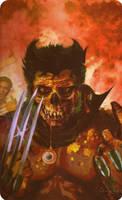 Zombie Wolverine by CrimsonCullen