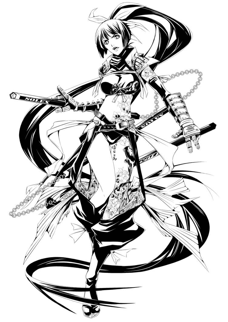 Sakana Uo Line Art by ComiPa