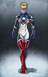 Lady America - Viskratos by ZenithComics