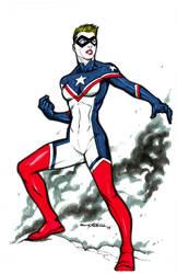 Lady America 2 - 11x17 by Viskratos by ZenithComics