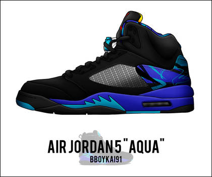 Air Jordan 5  Aqua  by BBoyKai91 on DeviantArt 7dbdfa33a