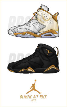 2012 Air Jordan Olympic 6 - 7 Pack by BBoyKai91 on DeviantArt d88546d69