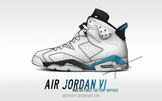 Air Jordan 6 - Air Force 180 Pump Inspired by BBoyKai91 on DeviantArt b80b6eecb