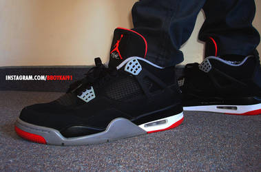 BBoyKai91 4 0 Air Jordan 4  Black Cement  by BBoyKai91 c8261bb85