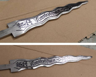 Rumplestiltskin Dagger OUAT unfinished by Woolf83