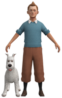 Tintin and Snowy by DazzyAllen