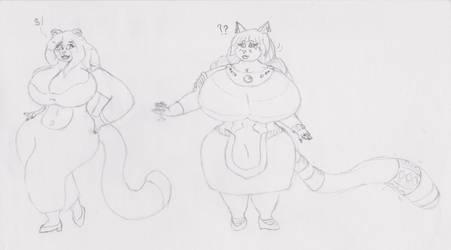Curvy, classy girls by MikeyAnthroVulupin