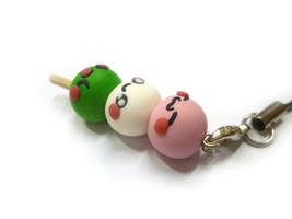 Kawaii dango faces Cell Phone Charm, Strap by TenereDelizie