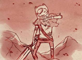 Adventure time - Badass Finn by mayukichan
