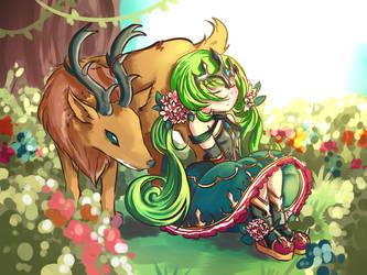 Brave Frontier: Guardian Princess Tia by miririri