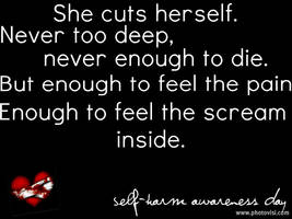 Self Harm Awareness by EmotionalDisaster666